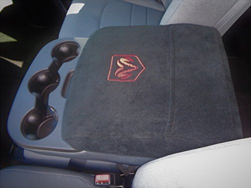 (Car Console Covers Plus Officially Licensed Embroidered Center Armrest Console Cover for Dodge Ram Trucks 2014-2019 This Cover fits All The Pics Shown Except Red X Photo)