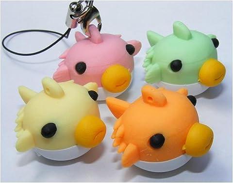 Dream Fugu Blow Fish Japanese Eraser - 4 Pieces - Fish Eraser