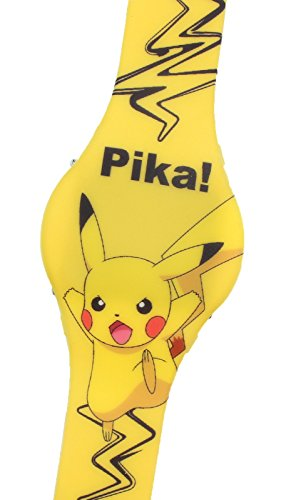 Price comparison product image Pokemon Kid's Digital LED Pikachu Watch w/ Light Up Time (Yellow)