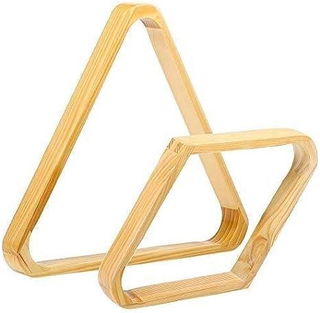 WXS Accesorios Billar Piscina Triángulo del Billar Bola 9 15 Bola Piscina Cremallera Una Pieza Madera Bola Blanca Bastidores Billar Suministro: Amazon.es: Deportes y aire libre