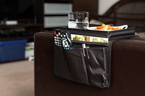 Imperial Home Archstone 6 Pocket Sofa, Couch Buddy, Arm Rest Organizer, Black