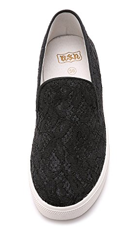 Ash-womens Illusion Lace Slip Op Sneakers Zwart
