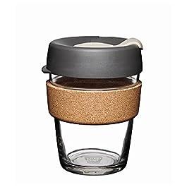 KeepCup Brew Cork Tempered Glass, 12oz, Press
