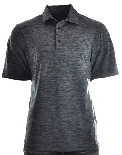 - Greg Norman Play Dry Performance Golf Polo (Large, Medium Blue Spacedye)