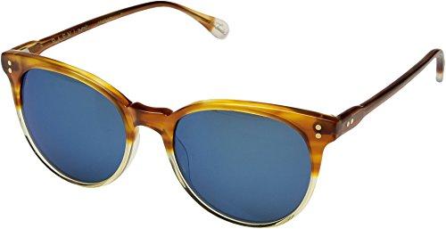 RAEN Optics Unisex Norie Honey Havana Mirror Smoke/Blue Mirror One Size ()