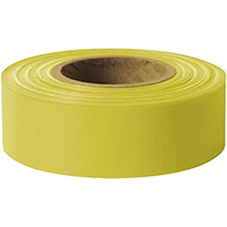 Presco Solid Color Roll Flagging Standard Taffeta 1 3 16 X 300 Yellow 10 Pack