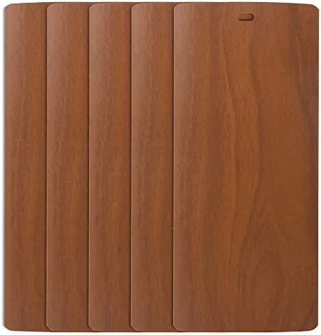 DALIX Wood Vinyl Vertical Blinds Parts Repair Set Walnut 98.5 High Window 5 Pack