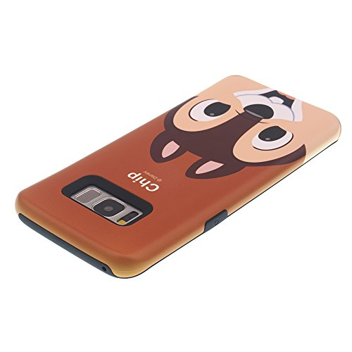 Funda Galaxy S8 [Protección híbrida contra caídas] DISNEY Minnie Mouse Linda Doble Capa Hybrid Carcasas [TPU + PC] Parachoques Cubierta para [ Samsung Galaxy S8 ] - Minnie Mouse Idea Chip (Galaxy S8)