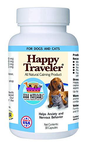 - Ark Naturals Happy Traveler for Dogs & Cats, 30-Count Capsules (Pack of 3)