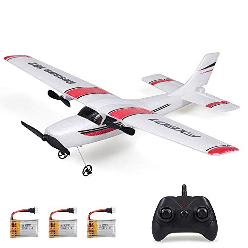 RC Airplane FX801 RC Plane 2.4Ghz 2CH 6-Axis Gyro DIY EPP Remote Control Airplane Easy to Fly Glider 310mm Wingspan with 3pack of Batteries