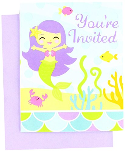 8-Count Party Invitations, Mermaid (Friends Party Invitations)