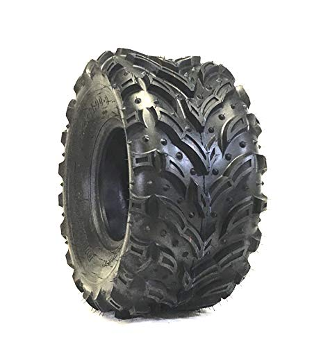 DEESTONE 22X8.00-10 Mud Crusher Front ATV Tire 6Ply Heavy Duty New Tire ()