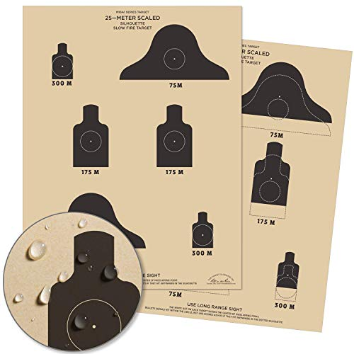 Rite In The Rain Weatherproof 25m Slow Fire Qualification Targets, M16A1, 17