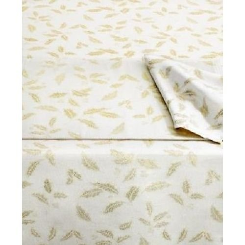 Checkered Holly - Lenox Holiday Holly Damask Shimmer Collection Tablecloth (Oblong 60