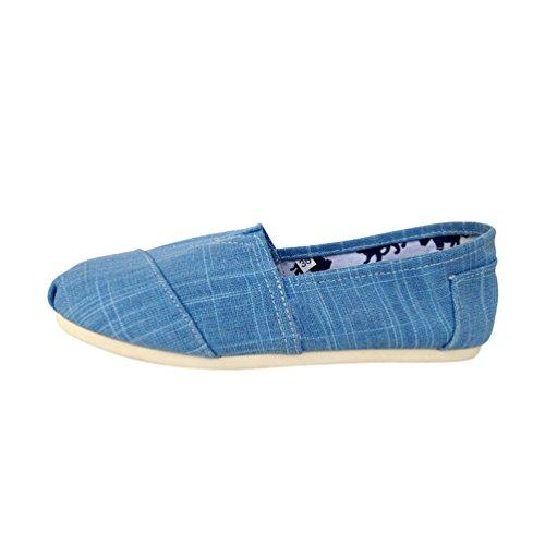blu Scarpe Basse Donna Unisex Tinta Scarpe Espadrillas Casuale Dooxii on Slip Loafers Moda Unita Durevole Uomo Flats wAgq44xBa