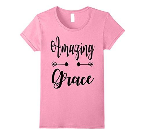 Womens Womens Christian Shirt  Amazing Grace  Mothers Day Xl Pink