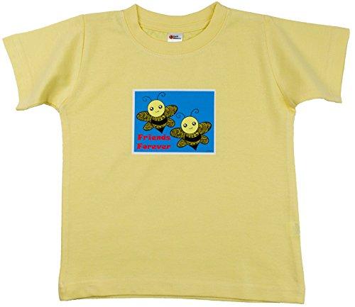 Earth Elements Baby Girls' Short Sleeve T-Shirt Lemon - Friends - Lemons Forever
