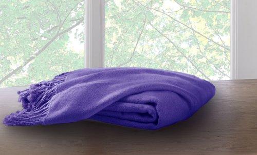 Marcini Bamboo Fiber Cotton Throw Blanket - Purple (Blanket Throw Bamboo)