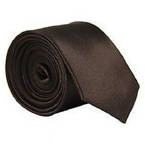 Satin Wedding Men's Solid Classic Necktie Plain Plain Various Coffee Colour Tie aSAnETpW