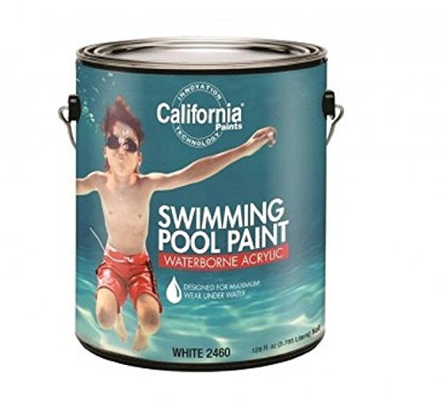 (California Paints F24000-1 Fixall Waterborne Acrylic Swimming Pool Paint, 1 Gallon (Pack of)