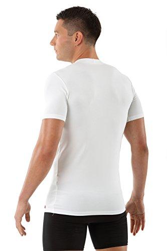 ALBERT KREUZ Business Herrenunterhemd aus Stretch-Micromodal atmungsaktiv Kurzarm mit Rundausschnitt weiß