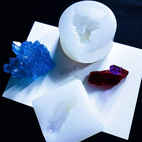 WYD Coral Sugar Crystal Column Mold Ice Snow Icicle Iceberg Molds DIY Chocolate Silicone Mould (Mold Quartz)