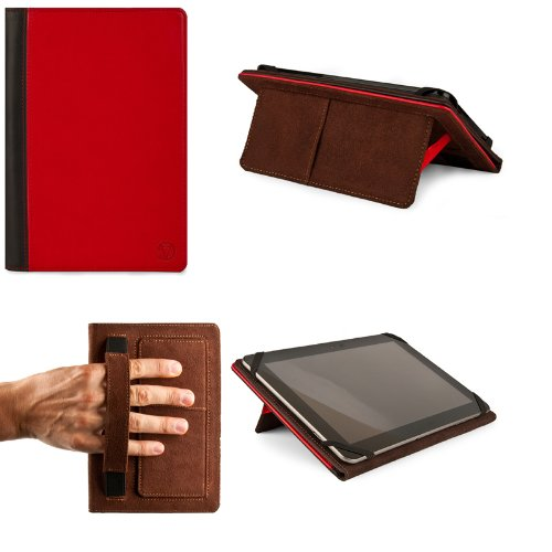 Red with Black VanGoddy Mary Portfolio Case for 10 Inch (Tablet Electronics Coby)