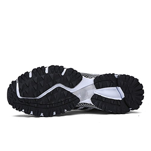 KUBUA Womens Running Shoes Trail Fashion Sneakers Tennis Sports Casual Walking Athletic Fitness Indoor and Outdoor Shoes for Women F Black Women 5 M US/Men 4 M US by KUBUA (Image #9)