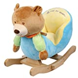 Plush Bear Baby Rocking Chair Kids Toy Ride Rocker Toddler