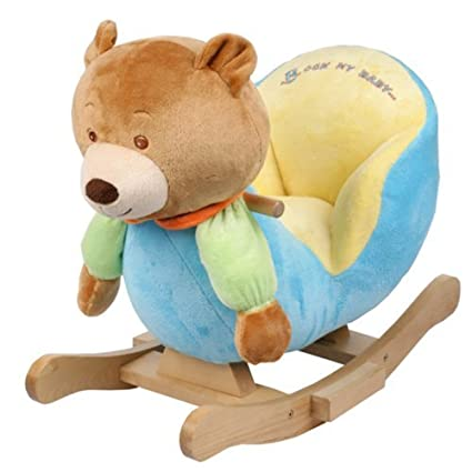 Pleasant Amazon Com Plush Bear Baby Rocking Chair Kids Toy Ride Pabps2019 Chair Design Images Pabps2019Com