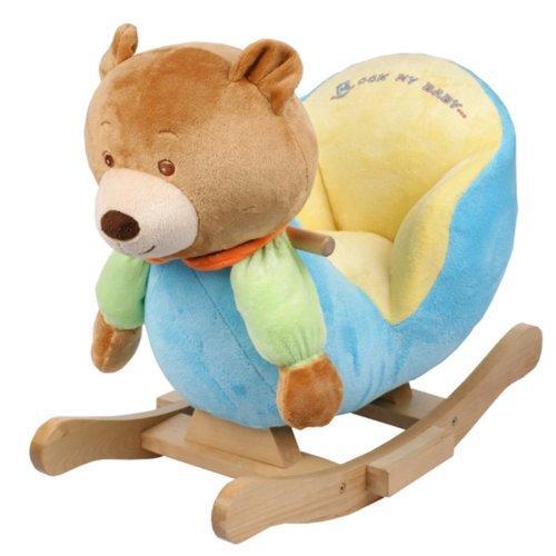 Plush Bear Baby Rocking Chair Kids Toy Ride Rocker Toddler