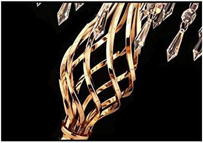 LANLONG 2pcs Metallo portacandele in Metallo Piombo Tavolo da Strada centrotavola Stand pilastro candeliere per la Cerimonia Nuziale candelabri Fiori vasi Oro, 20.4