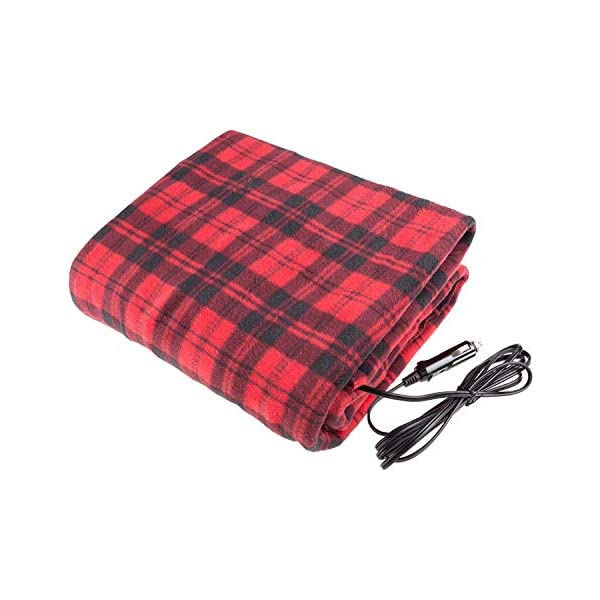 NEW LARGE 12V HEATED CAR VAN TRAVEL ELECTRIC BLANKET WARM FLEECE CUDDLE RUG MOTORHOME CARAVAN CAMPERVAN