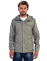 Gioberti Men's Waterproof Rain Jacket, Gray, S