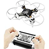kosiwun FQ777 124 Micro Pocket Drone 4CH 6Axis Gyro With Switchable Controller and 3D Flip Headless Mode Mini quadcopter for Kids Toys Black