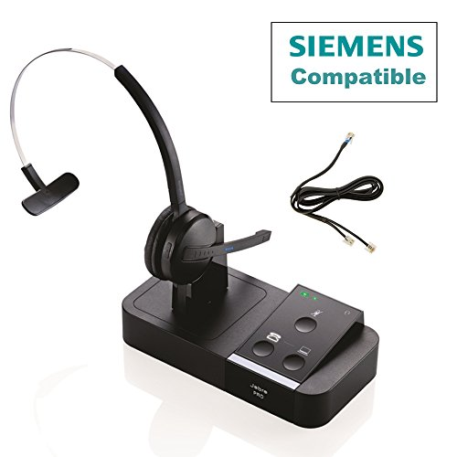 Unify - Siemens Compatible Jabra PRO 9450 Bundle with EHS Remote Answering Adapter | Dual Usage - Desk Phone/PC (GN9450-SIE) ()