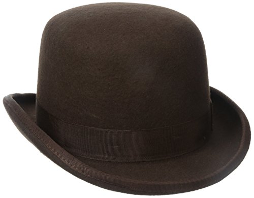 Stacy Adams Men's Wool Derby Hat, Brown, (Mens Derby Hat)