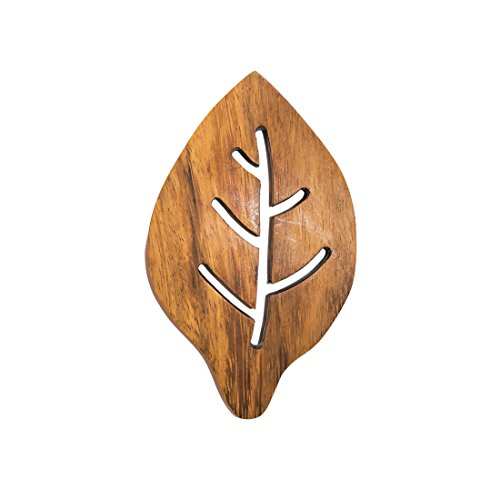 Wood Leaf Hot Pot Holder Pad Handmade by Hide  Drink :: Conacaste