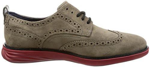 Cole Haan Mens Grand Evolution Shortwing Oxford Toadrock Suède / Zongedroogde Tomaat