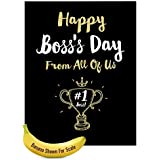 """Jumbo Funny Boss's Day Card From All of Us: Happy Boss's Day From All Featuring Work Themed Wishes For Your Manager, with Envelope (Big Size: 8.5"""" x 11"""") J5886BOG-US"""