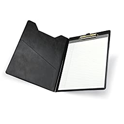 Samsill Value Padfolio with Clipboard, Letter Size Writing Pad, Black