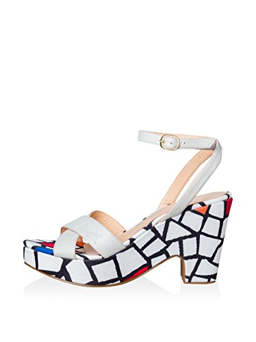 Desigual Bip, Women's Heeled Sandals BLACK OFF WHITE