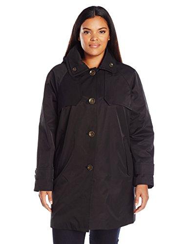 London Fog Women's Size Plus Topper, Black, 1X - Womens London Coat Fog