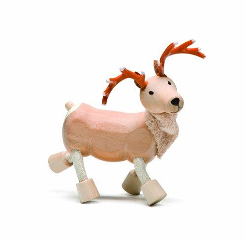 Anamalz Farm Reindeer Wooden Toy (Poseable Rudolph Reindeer)