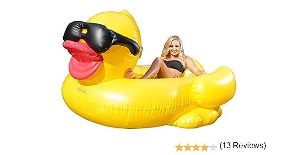 Juguete Inflable Gigante de Pato, Juguetes Flotadores para Piscina, para Playa, Fiesta de Piscina y de Salón para Adultos y Niños