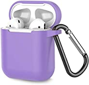 Coffea Protective Silicone Case with Keychain for Apple AirPods 1 & 2 (Front LED Not Visi