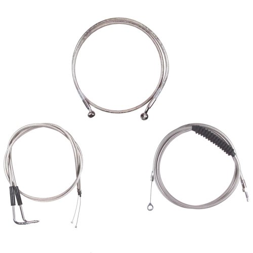 Hanger Ape Tall (Hill Country Customs Basic Stainless Cable Brake Line Kit for 12