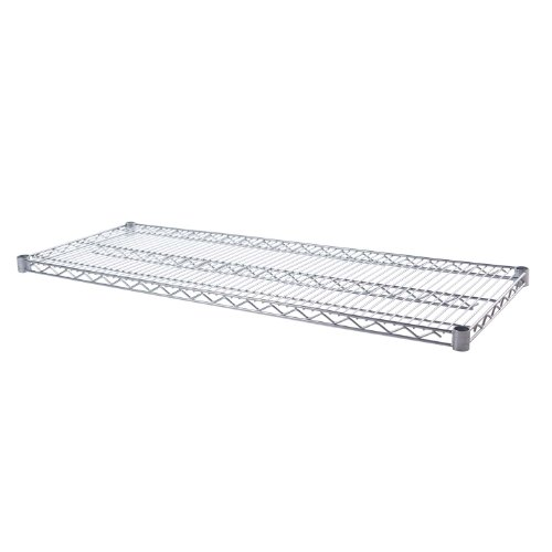 Seville Classics UltraDurable Steel Wire Shelf, 18-inch by 48-inch, - Stainless Steel Chrome 18