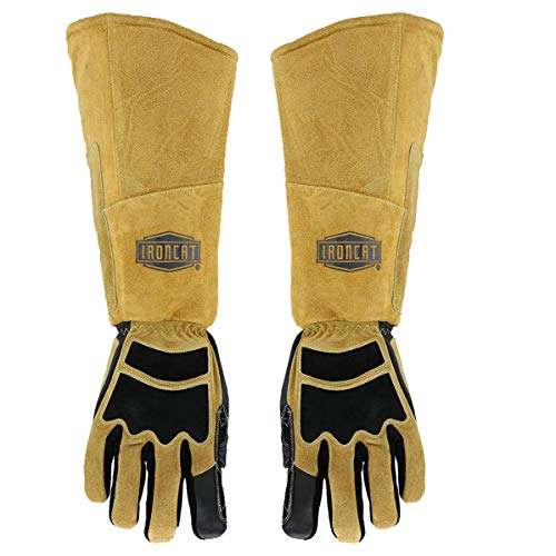 West Chester IRONCAT 9070 Premium Grain Goatskin and Split Cowhide Leather Stick Welding Gloves: Large, 1 Pair