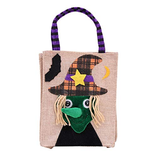 Creazy Candy Bag, Halloween Cute Witches Packaging Children Party Storage Bag Gift (D) ()